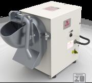 Estrutura em aço com pintura epóxi; Bocal removível em alumínio; Capacidade de produção de 25 a 30kg/hora; Acompanha 3 discos de aço inox de 150mm; Opcional MES-100 para apoiar em aço com pintura em epóxi.