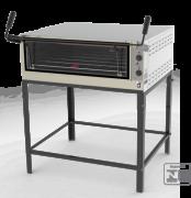 Estrutura externa em aço inox escovado; - Cavalete desmontável; - Placas refratárias; - Visor em vidro temperado; - Termômetro de controle de temperatura; - Porta tipo guilhotina; - Câmara interna com suportes para 2 níveis de altura; - Acompanha 1 grade; - Modelo a gás em baixa pressão e gaveta móvel; - Modelo elétrico com controle automático de temperatura  (termostato) e tensão 127-220V; - Os modelos PRPI-800 e PRPI-900 possuem queimadores infravermelhos fixados na parte superior da câmara interna, específicos para gratinar;  - Os modelos PRP-1500 são fornecidos com estrutura externa em aço com fino acabamento em pintura epóxi; - No modelo PRP-1500 AT o controlador possui estrutura em aço inox escovado e é fornecido opcionalmente em 127V ou 220V.