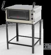 - Estrutura externa em aço inox escovado; - Cavalete desmontável; - Placas refratárias; - Visor em vidro temperado; - Termômetro de controle de temperatura; - Porta tipo guilhotina; - Câmara interna com suportes para 2 níveis de altura; - Acompanha 1 grade; - Modelo a gás em baixa pressão e gaveta móvel; - Modelo elétrico com controle automático de temperatura  (termostato) e tensão 127-220V; - Os modelos PRPI-800 e PRPI-900 possuem queimadores infravermelhos fixados na parte superior da câmara interna, específicos para gratinar;