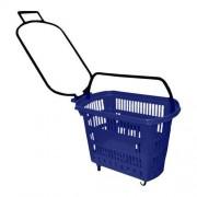 Cesta De Compras Plastica Azul